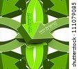 abstract green colorful texture arrow Vector background - stock vector