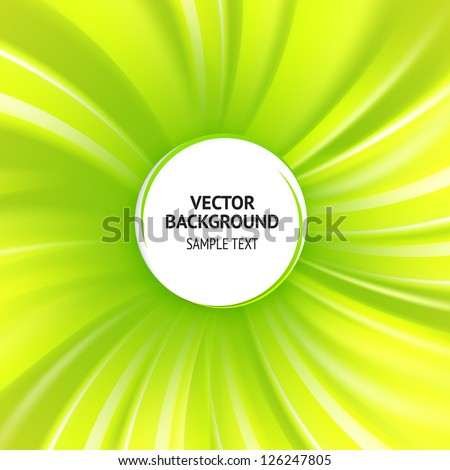 Abstract green cover with smooth lines. Vector background, contains transparencies. - stock vector