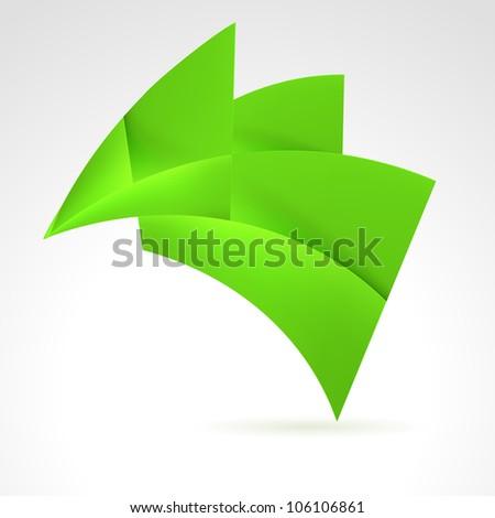 Abstract Green Design Element. Illustration on white - stock vector