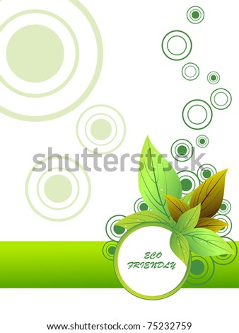 abstract green eco friendly background, vector illustration - stock vector