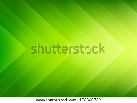Abstract green ecology theme arrows background for presentation - stock vector