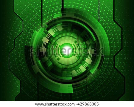 Abstract green futuristic digital technology background. Vector illustration EPS10 - stock vector
