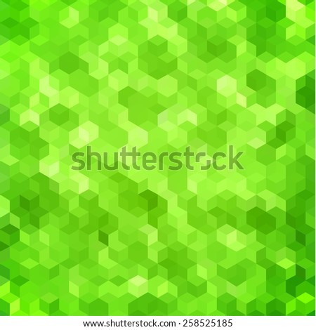 Abstract green geometric background - stock vector