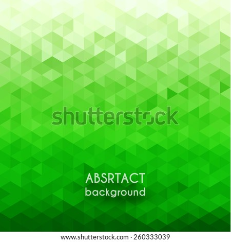 Abstract green geometric background - eps10  - stock vector