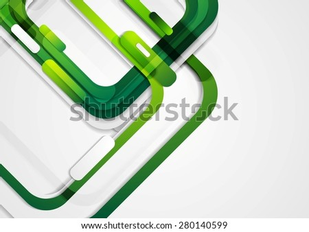 Abstract green geometric corporate background. Vector design - stock vector