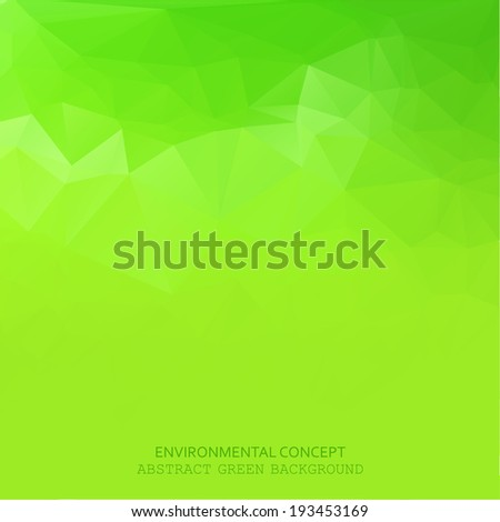 Abstract green geometric style background