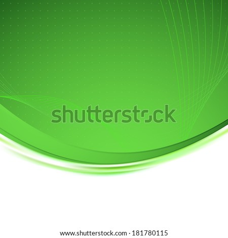 Abstract green gold border line. Vector illustration - stock vector