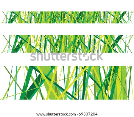 abstract green grass lines - stock vector