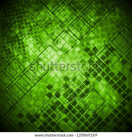 Abstract green grunge technical background. Vector design eps 10 - stock vector