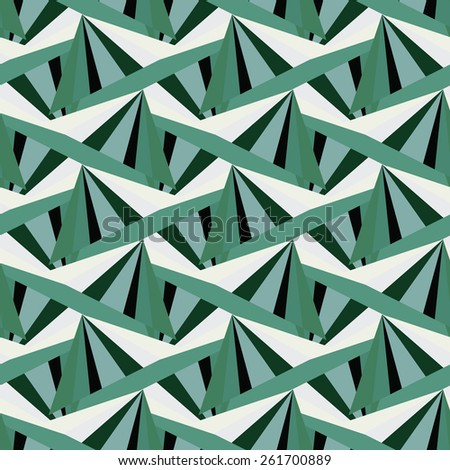 abstract green harlequin argyle vector seamless pattern with lozenge elements emeralds - stock vector