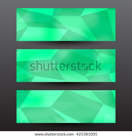 Abstract green polygon background - stock vector