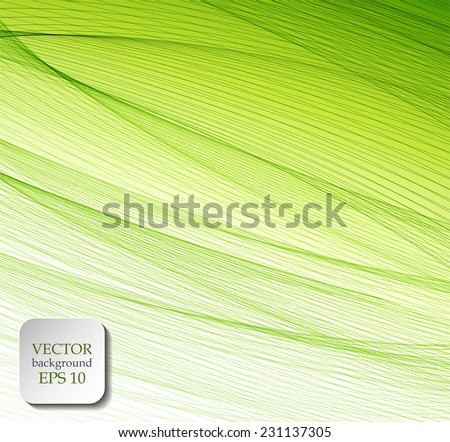 Abstract green striped background - stock vector
