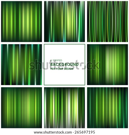 Abstract green striped background for your design - stock vector