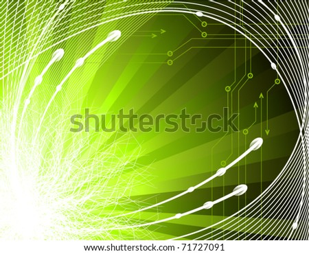 Abstract green technology background - stock vector