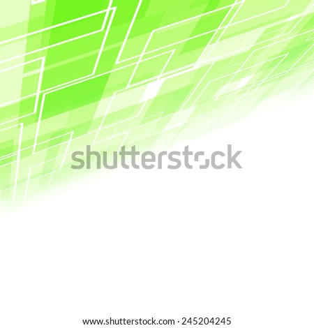 Abstract green tile perspective backdrop. Vector illustration - stock vector