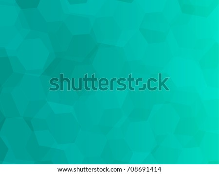 Abstract Green Turquoise Hexagon Background Wallpaper Bokeh Illustration Vector