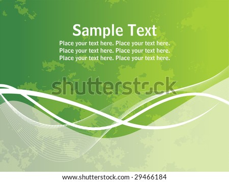 Abstract green twisted lines, wave background