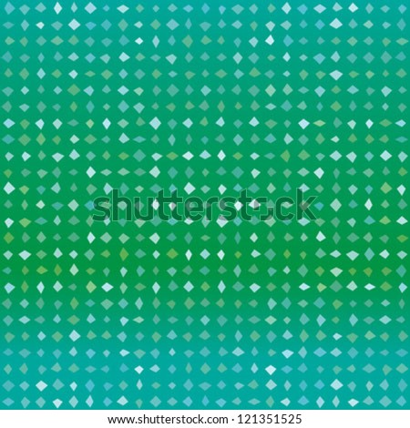 abstract green vector detailed background with colorful elements, that look like diamonds or squares in random shades of green, seamless pattern - stock vector