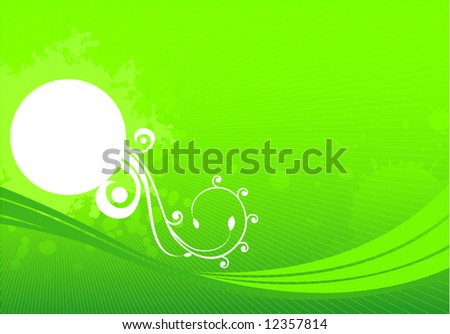 Abstract green vintage grunge vector illustration design background - stock vector