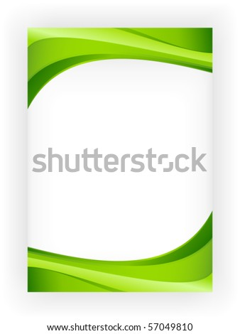 Abstract green wave background with copy space for text, great for nature, spring or eco themes. - stock vector