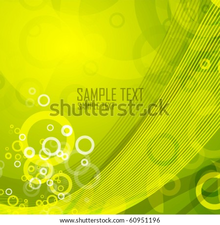 Abstract green wave. Vector design