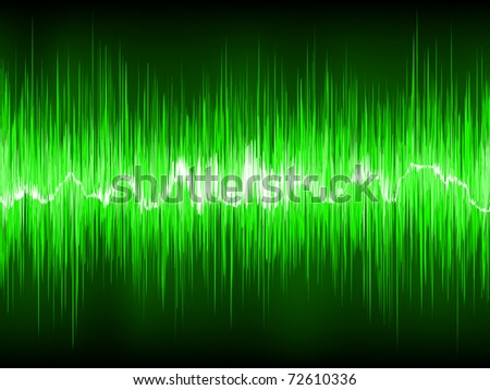 Abstract Green waveform. EPS 8 vector file included - stock vector