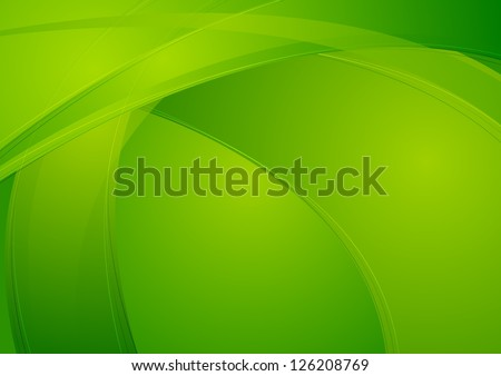 Abstract green wavy background. Vector design eps 10 - stock vector