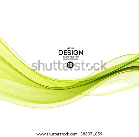 Abstract green wavy lines.  Colorful vector background. Green smoke wave. Green smoky wave Spring green wave. Vector green wavy lines. Green wave design. Transparent green wave. Spring line - stock vector