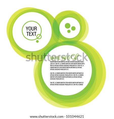 Abstract Green Web Bubble Background - stock vector