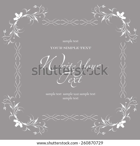 Abstract greeting card. Wedding card or invitation - stock vector