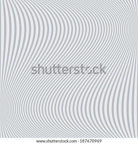 Abstract grey and white background of wavy lines - stock vector
