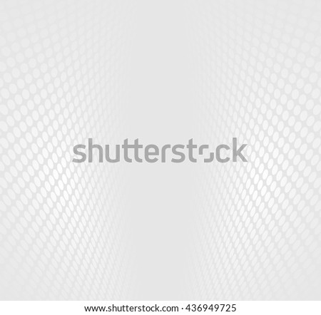 Abstract grey and white halftone perspective background - stock vector