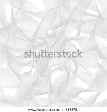 abstract grey background smoke, gray silk, isolated on white vector - stock vector