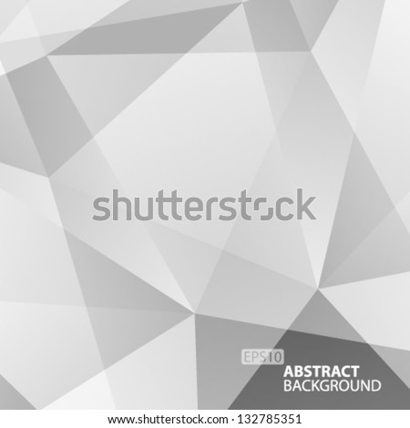 Abstract  Grey Geometric Background. Vector Illustration - stock vector