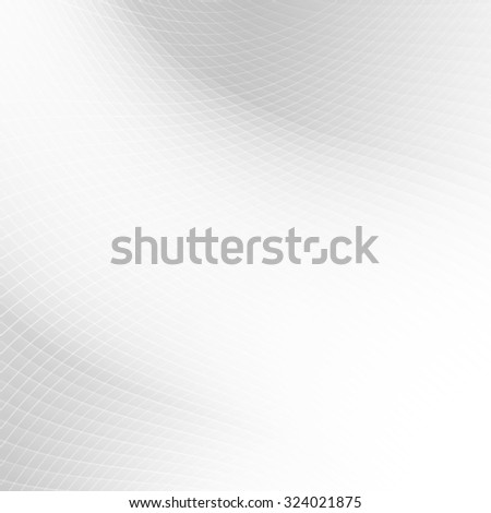 Abstract grey lights background with perspective line art concept - stock vector