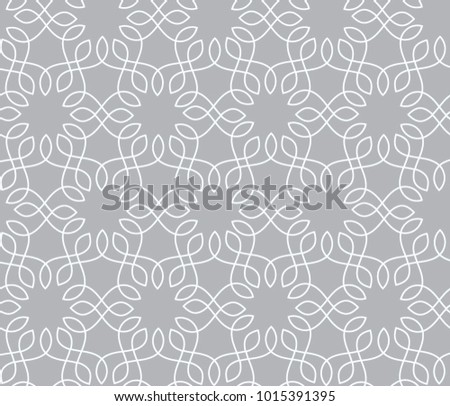 Abstract grey ornamental pattern