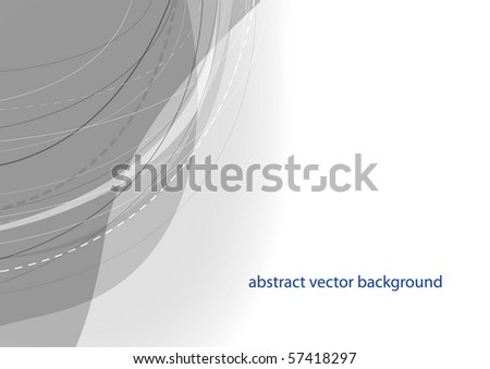 Abstract grey smooth background design (eps10) - stock vector