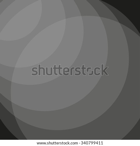 Abstract grey transparent circles. Vector background - stock vector