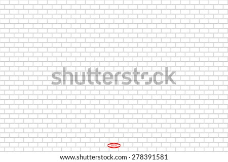 abstract grey white brick wall seamless pattern on white background. vector illustration - stock vector