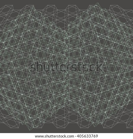 Abstract grid of hexagons. Abstract square shapes. Vector illustration.