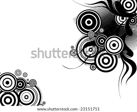 abstract groovy background with copy space very easy to edit, individual objects - stock vector