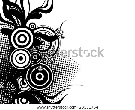 abstract groovy background with copy space very esy to edit, individual objects - stock vector