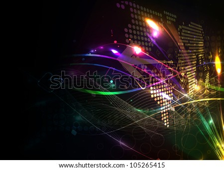 Abstract grunge arrow background, vector illustration. - stock vector