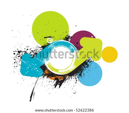 Abstract grunge arrow wave halftone line background with sample text, vector illustration - stock vector