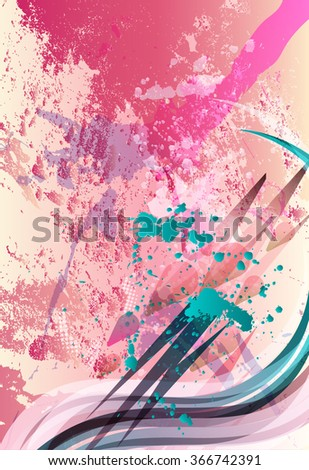 Abstract Grunge Background for Text - stock vector