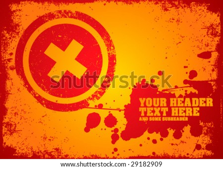 Abstract grunge background for your business artwork - stock vector
