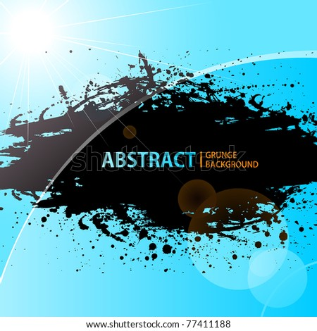 Abstract Grunge background shining sunlight. Vector illustration - stock vector