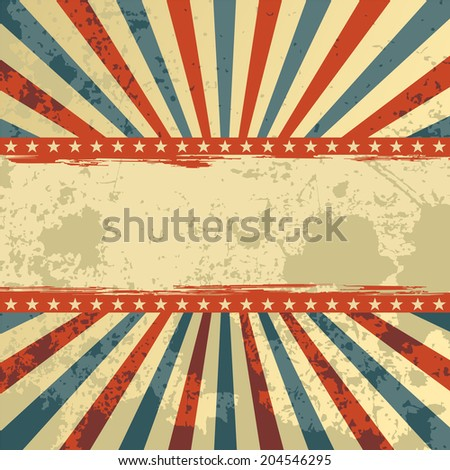 Abstract grunge background. Vector illustration. Grunge effect can be cleaned easily. - stock vector