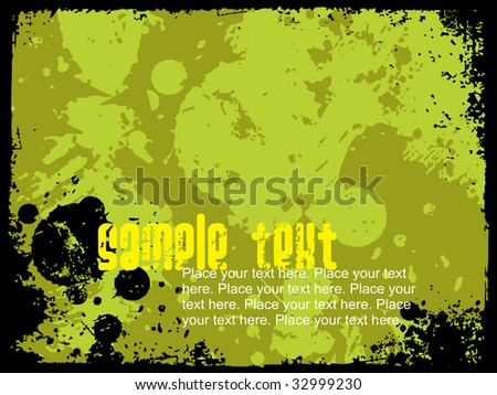 abstract grunge background with black grunge border