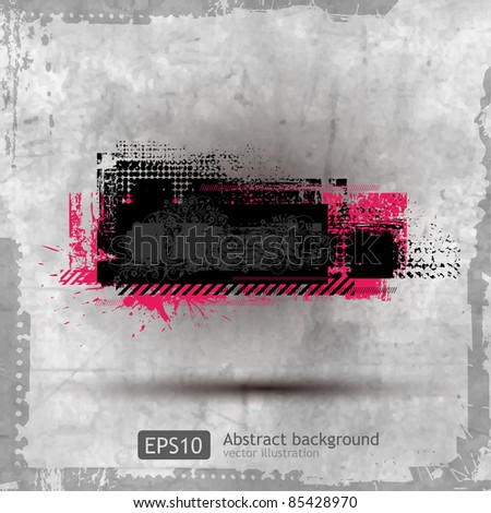Abstract Grunge Banner design element - vector - stock vector